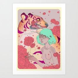 Tiger Blossom Art Print