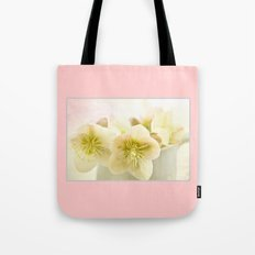 Hellebores in blue jug Tote Bag