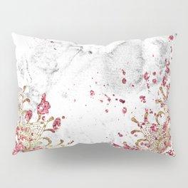 Royals - ruby gems, golden mandala and white grunge Pillow Sham