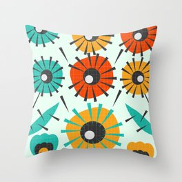 Prickly flowers Throw Pillow