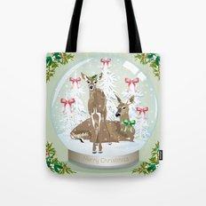 Snow globe deer Tote Bag