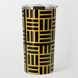 The Black lines pattern Travel Mug