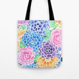 Masked Flora Collection Bloom Tote Bag