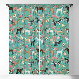 Horses floral horse breeds farm animal pets Blackout Curtain