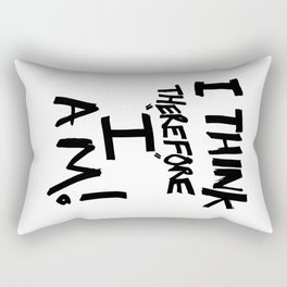 I think therefore I am - inverse redux Rectangular Pillow