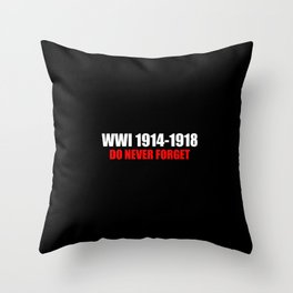 Commemoration WWI 1914-1918 Throw Pillow