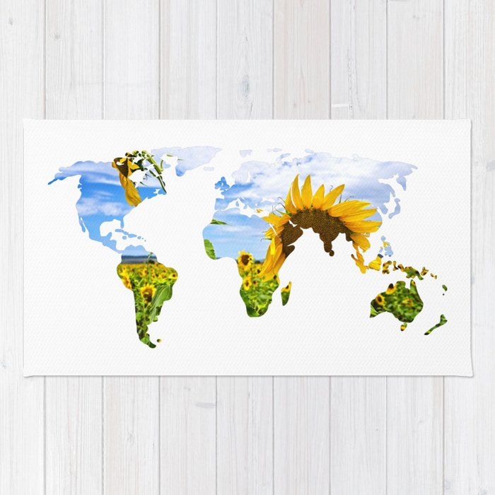 World of Sunflowers Rug