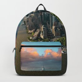 Aerial view of lower Manhattan, New York City Backpack