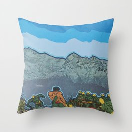 Lizardmen Throw Pillow