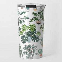 plants and pots pattern Travel Mug
