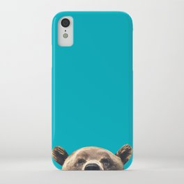 Bear - Blue iPhone Case