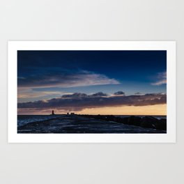 Dublin sunrise from Poolbeg Art Print
