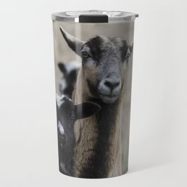 Black Goat and Barbados Blackbelly Sheep, No. 1 Travel Mug