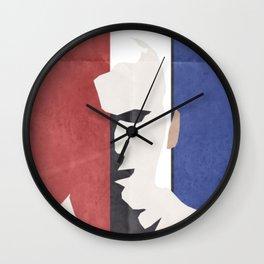 Zinedine Zidane Minimal Portrait, Zizou, illustration, football, calcio, soccer, ballon d'or Wall Clock