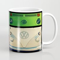 vw Mugs featuring VW Collage by RDelean