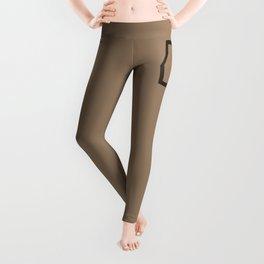 Brown Dance Symbol Leggings