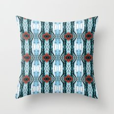 Subway Red Throw Pillow