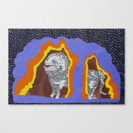 Desmond in the Rain Canvas Print