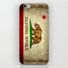 California Republic Retro Flag iPhone Skin