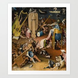 Visions of Hell by Heironymus Bosch Art Print