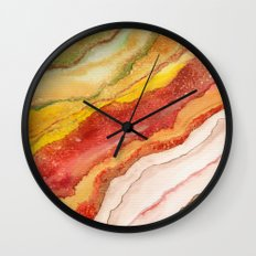 AGATE Inspired Watercolor Abstract 03 Wall Clock