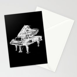 Black Piano Stationery Cards