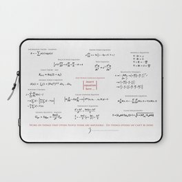High-Math Inspiration 01 - Red & Black Laptop Sleeve