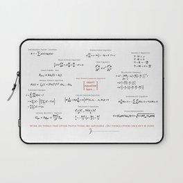 High-Math Inspiration 01 - Red & Black Laptop Sleeve