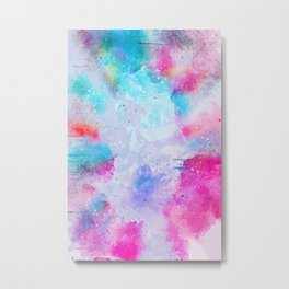 Abstract Watercolor paint Metal Print