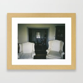Husband and Wife Chairs  Framed Art Print