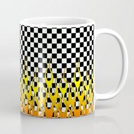 CHECKERED FLAMES Coffee Mug