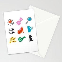 Virgo Emoji Stationery Cards