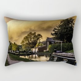 No Problem at Hillmorton Locks Rectangular Pillow
