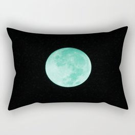 Aqua Moon Rectangular Pillow