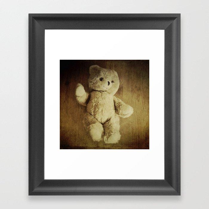 Old Teddy Bear Framed Art Print By Victoriaherrera Society6