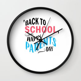 Funny Back to School art for Mom, Dad & Parents Light Wall Clock