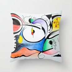 Aurora boreal Throw Pillow