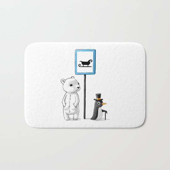 School Stop Bath Mat