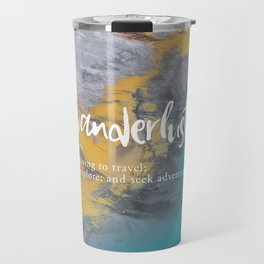 Wanderlust Definition - Topographical Map Travel Mug