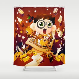 Alice in Wonderland- The King of Hearts Shower Curtain