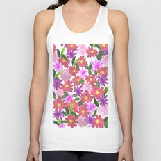 Flower Design Unisex Tank Top