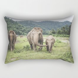 Elephant Love Rectangular Pillow