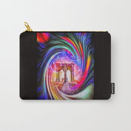 New York Brooklyn Bridge Carry-All Pouch