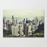 hong kong Canvas Prints featuring Hong Kong by Martin Llado