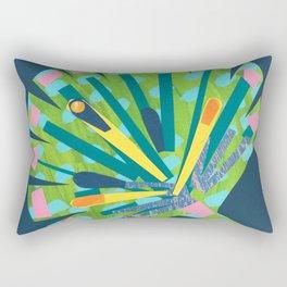 Fan Leaf Rectangular Pillow