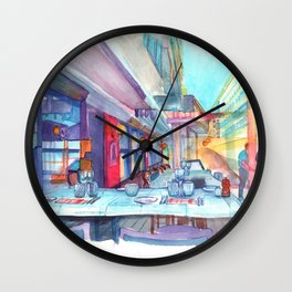 Cafe in the Knokke Wall Clock