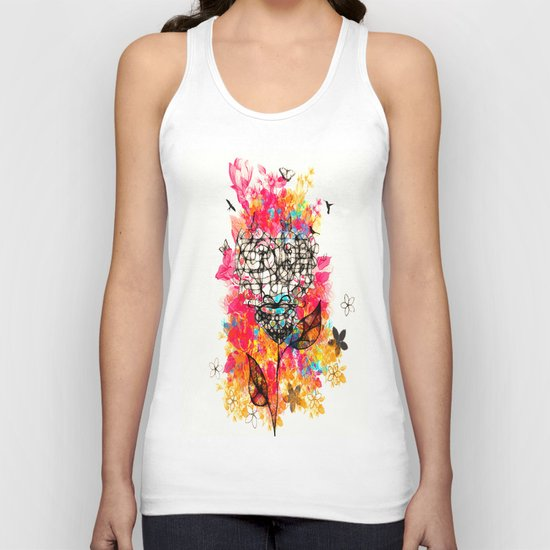 Abstract flower's face, colors Unisex Tank Top