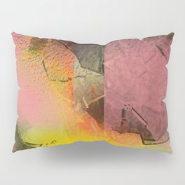 Broken Glass in Pink and Gold Pillow Sham