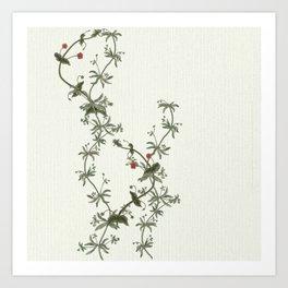 Pimpernel climbs Art Print