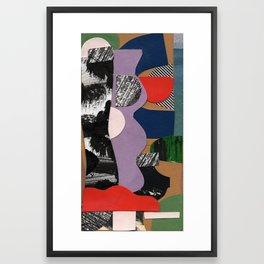 Purple Wave - Collage 46 Framed Art Print